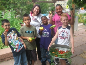 Chef and Youth with Fresh Harvest