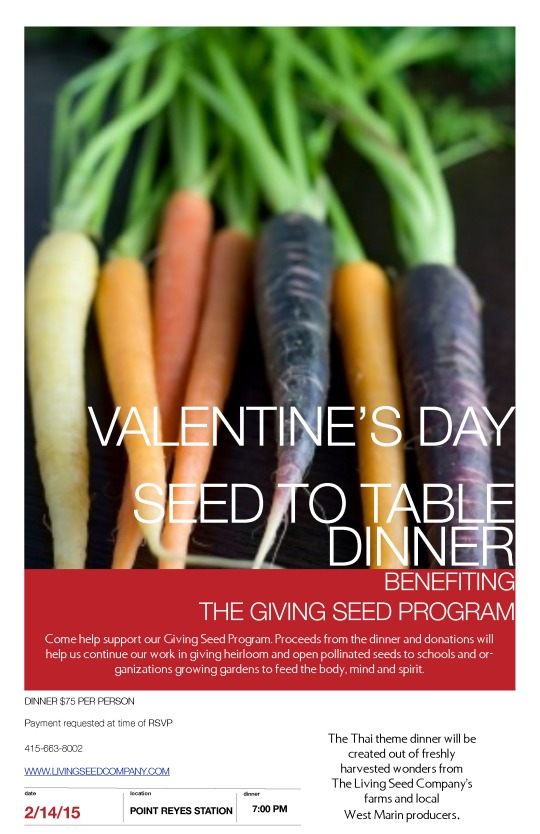 Valentine's Day Seed to Table Dinner