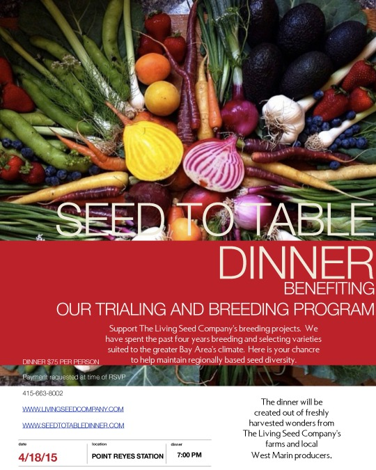 Seed to Table Dinner 04.18